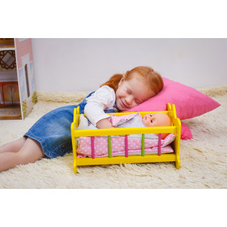 Лялькове дерев'яне ліжечко (маленьке)