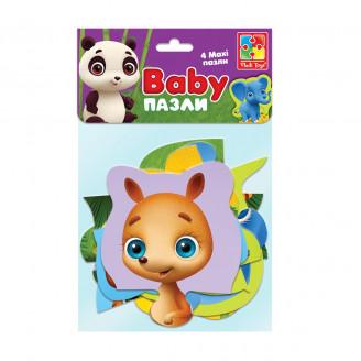 Бебі максі пазли картонні «Зоопарк»