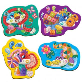 Бебі максі пазли картонні «Диво-зоопарк»